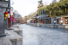 Asia Chinese, Beijing, the Summer Palace, landscape architecture, Suzhou Street Royalty Free Stock Images
