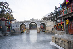 Asia Chinese, Beijing, the Summer Palace, landscape architecture, Suzhou Street Royalty Free Stock Photography