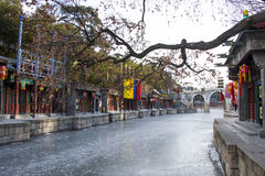 Asia Chinese, Beijing, the Summer Palace, landscape architecture, Suzhou Street Stock Images
