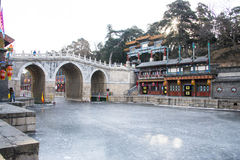 Asia Chinese, Beijing, the Summer Palace, landscape architecture, Suzhou Street Royalty Free Stock Image
