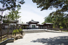 Asia Chinese, Beijing, Taoranting  ,Garden architecture. Asia China, Beijing, Taoranting Park, modern gardens, beautiful scenery, ancient buildings Royalty Free Stock Photo