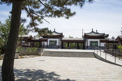Asia Chinese, Beijing, Taoranting  ,Garden architecture. Asia China, Beijing, Taoranting Park, modern gardens, beautiful scenery, ancient buildings Stock Photo