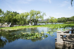 Asia Chinese, Beijing, Taoranting  Park, Garden scenery Royalty Free Stock Images