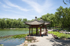 Asia Chinese, Beijing, Taoranting Park Park, Lakeview, Pavilion Royalty Free Stock Photos