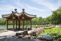 Asia Chinese, Beijing, Taoranting Park Park, Lakeview, Pavilion Stock Photo