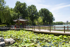 Asia Chinese, Beijing, Taoranting Park Park, Lakeview, Pavilion Royalty Free Stock Photo