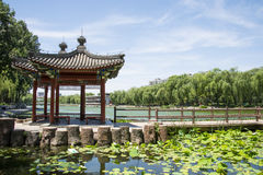 Asia Chinese, Beijing, Taoranting Park Park, Lakeview, Pavilion Royalty Free Stock Images