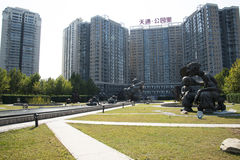 Asia and Chinese, Beijing, Tiantong garden art, folk sculpture, Stock Image