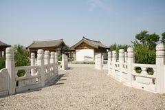 Asia Chinese, Beijing, Yu Garden,Classical garden architecture,Stone Bridge Royalty Free Stock Photo