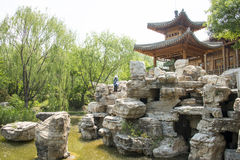 Asia Chinese, Beijing, Yu Garden,Classical garden architecture,Wenfeng tower, Pavilions, terraces and open halls Stock Image