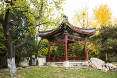Asia Chinese, Beijing, Zhongshan Park, antique building, Pavilion Stock Photos