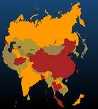 Asia (coloreada) libre illustration