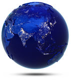 Asia continent and countries Royalty Free Stock Image