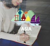 Asia Country Travelling Exploration City Concept Royalty Free Stock Images