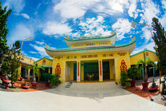 Asia, country of Vietnam, Phan Thietт.Buddhist temple. Stock Photos