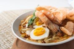 Asia cuisine lontong ketupat rice cake Stock Image