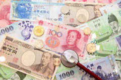 Asia currencies Stock Photography