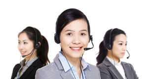 Asia customer service team Stock Photo