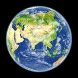 Asia del espacio ilustración del vector
