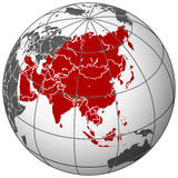 Asia on earth Stock Photography