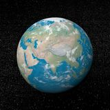 Asia on earth - 3D render royalty free illustration