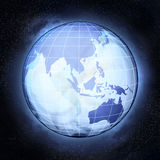 Asia earth globe at cosmic view concept Royalty Free Stock Photos