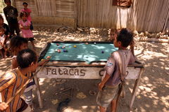 ASIA EAST TIMOR TIMOR LESTE VILLAGE BILLARD Stock Images
