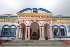 ASIA EAST TIMOR TIMOR LESTE VIQUEQUE SCHOOL Stock Photos