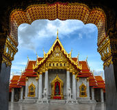 Asia, el templo de mármol (Wat Benchamabophit), Bangkok, Tailandia Fotografía de archivo libre de regalías