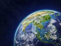 Asia en la tierra stock de ilustración