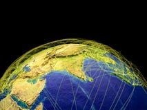 Asia en la tierra del espacio stock de ilustración