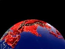 Asia en la tierra del espacio libre illustration