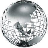 Asia en metal Imagen de archivo libre de regalías