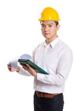Asia engineer holding with clipboard Stock Images