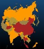 asia färgade royaltyfri illustrationer