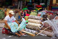 Asia fabric market Royalty Free Stock Image
