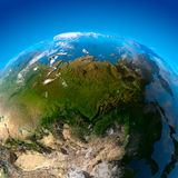 Asia, Far East, Siberia, the view. Asia - Russia, Far East, Siberia, China. The view from the satellites Royalty Free Stock Photos