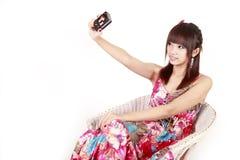 Asia fashion girl self shot Royalty Free Stock Images