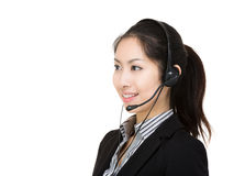 Asia female customer service Royalty Free Stock Photo