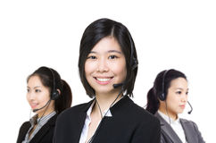 Asia female customer service Royalty Free Stock Images