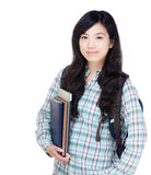 Asia female university student Stock Image