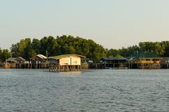 Asia fisherman house on the Thailand sea Stock Photography