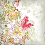 Asia Floral. Illustration of abstract floral and butterfly in asia style Stock Photos