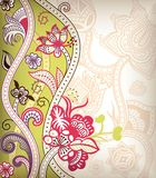Asia Floral. Illustration of abstract floral background in asia style Stock Photo