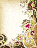 Asia Floral. Illustration of abstract floral background in asia style Royalty Free Stock Images