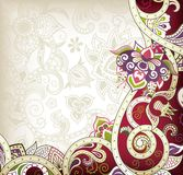 Asia Floral. Illustration of abstract floral background in asia style Royalty Free Stock Photos