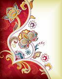 Asia Floral Background. Illustration of abstract floral background in asia style. also good for chinese wedding card Royalty Free Stock Photography