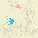 Asia Floral and Bird Royalty Free Stock Photography
