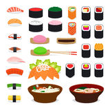 Asia food icons Royalty Free Stock Photos