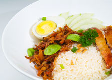 Asia food and mix rice malaysia Royalty Free Stock Images